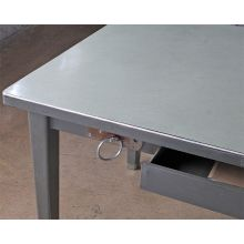 Gray Metal Interrogation Desk