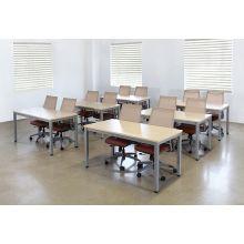 Maple Top Multi Purpose Table W/Silver Post Legs