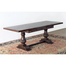 Double Pedestal Antique Mahogany Desk