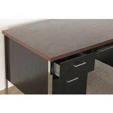 Vintage Black Metal Desk With Laminate Top
