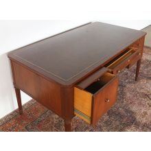 Mahogany Desk With Leather Top
