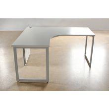 Grey Curved Office Desks Left Hand