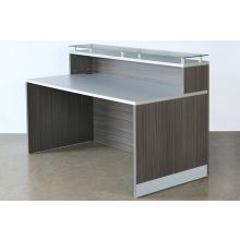 Gray Laminated Glass Top Reception Station