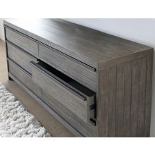 Gray-Washed Reclaimed Wood 6 Drawer Dresser
