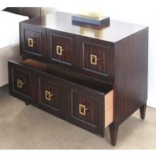 Saeple 2 Drawer Chest of Drawers in Caviar Finish