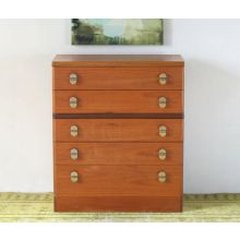 Vintage 5 Drawer Dresser with Oval Drawer Pulls