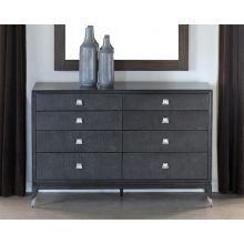 Black Maple Dresser with Mother of Pearl Accents