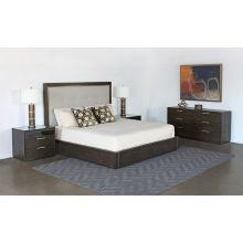 Sable Brown Oak 6 Drawer Dresser With Brass Pulls