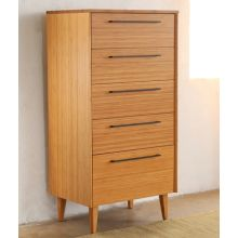 Sienna 5-Drawer Chest in Caramelized Finish