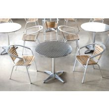Allan Bistro Table in Stainless Steel and Aluminum