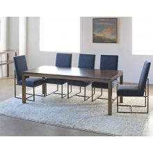 Mitchell Gold Parsons Dining Table in Vintage Brass with Sienna Finish