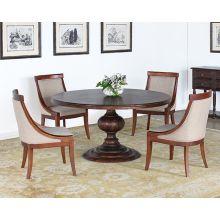 Magnolia Round Dining Table in Dark Oak