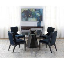 Jet Variegated Pedestal Table W/ Smoke Glass Top