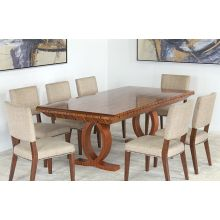Burled Wood Biedermeier Style Expanding Conf Table