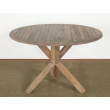Weathered Teak Round Dining Table