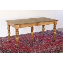 Turned Leg Oak Dining Table