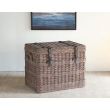 Wicker Trunk End Table