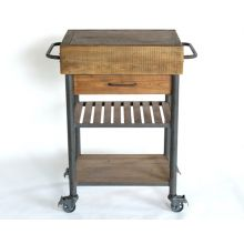 Rustic Bleached Pine Rolling Table