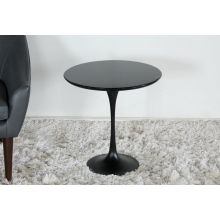 Black Laminate Wood Saarinen Style Tulip End Table