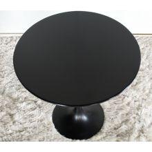 Black Laminate Wood Saarinen Style Tulip End Table