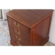 Mahogany 2 Drawer File Cabinet/Side Table, Circa 1960