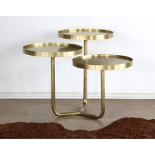 Tre Metal Table in Antique Brass