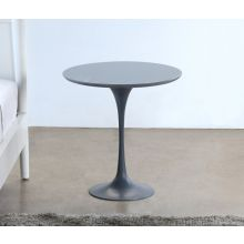 Steel Gray Saarinen Style Tulip End Table