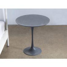 Steel Gray Saarinen Style Tulip End Table
