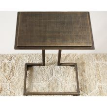Etched Brass Side Table