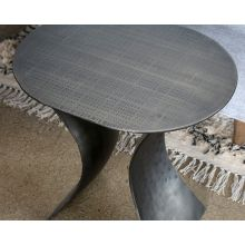 Element Etched Iron End Table