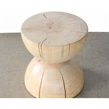 Natural Pine Hourglass End Table