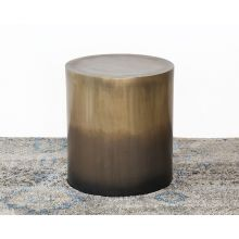 Antique Brass Ombre End Table