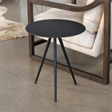 Rubbed Black Iron Tripod End Table