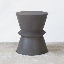 Tribal Dark Gray Concrete End Table