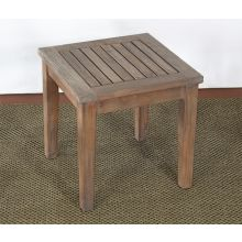 Weathered Teak Square End Table