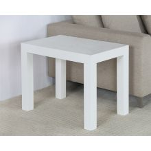 White Parsons End Table