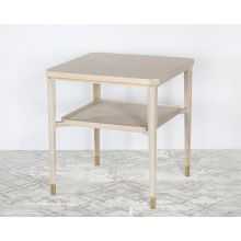 Bleached Cerused Oak End Table Or Nightstand