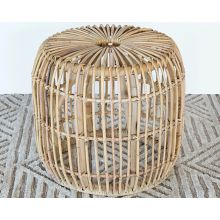 Natural Rattan End Table