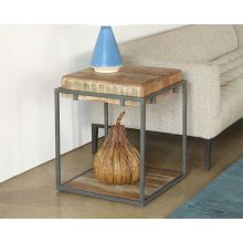 Acacia Wood Lamp Table With Iron Frame