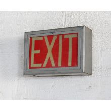Vintage Theater Exit Sign