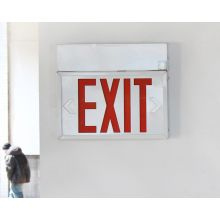Steel White Powder Finish Exit Sign