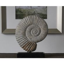 Fossil Marble & Iron Shell Sculpture - Cleared Décor