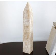 White Marble Obelisk - Cleared Décor