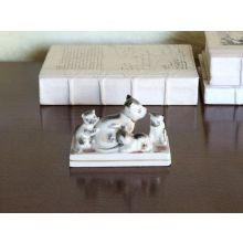 Cat With Kittens Figurine