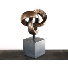 Trifoil Table Sculpture in Bronze - Cleared Décor