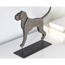 Small Flat Dog Figurine - Cleared Décor