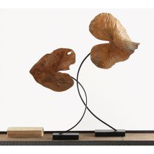 Large Carved Leaf Sculpture - Cleared Décor