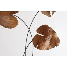 Carved 3-Leaf Sculpture - Cleared Décor