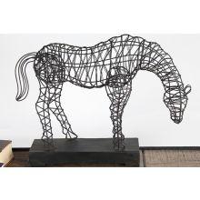 Anatole Woven Horse Statuary - Cleared Décor