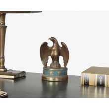 Antique Brass Bald Eagle Figurine